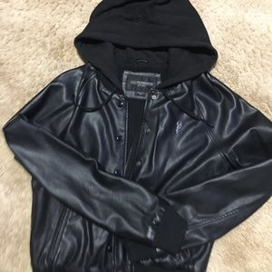 Obey leather bomber jacket